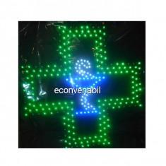 Reclama Luminoasa cu LEDuri Verzi 48x48cm Farmacie2