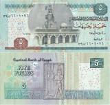 2007 (4 VI), 5 pounds (P-63c.1) - Egipt - stare XF+!