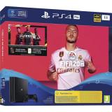 Consola SONY PlayStation 4 Pro, 1TB, Jet Black + joc FIFA20 + PSPlus 14 zile + voucher FIFA Ultimate Team