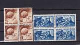 ROMANIA 1949  LP 255  ANIVERSAREA A 75 DE ANI UPU  BLOCURI DE 4 TIMBRE  MNH, Nestampilat