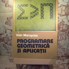 "Ioan Marusciac - Programare geometrica si aplicatii ""6515"""