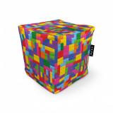 Cumpara ieftin Fotoliu Units Puf (Bean Bags) tip cub, impermeabil, lego tetris