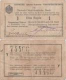 1915 (1 XI), 1 Rupie (P-9 Ab.9) - Africa de Est Germană
