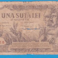 (15) BANCNOTA ROMANIA - 100 LEI 1947 (27 AUGUST 1947)