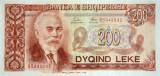 ALBANIA █ bancnota █ 200 Leke █ 1992 █ P-52 █ UNC █ necirculata