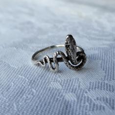 INEL argint VIPERA SARPE splendid VECHI de efect GRAVAT manual VINTAGE