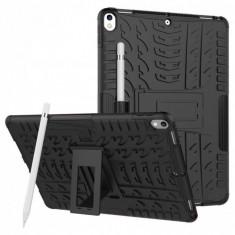 Carcasa de protectie cu suport din plastic si gel TPU pentru iPad Pro 10.5 (2017) neagra