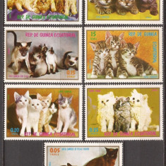 GUINEA ECUATORIALA 1976 FAUNA PISICI ( serie dantelata) MNH