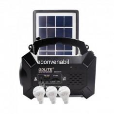 Kit Solar cu Radio FM, SD Card, USB MP3, LED 1W 4V4Ah GdLite GD8056