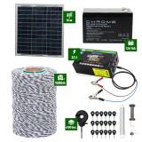 Pachet gard electric cu Panou solar 3,1J putere cu 1000m Fir 120Kg