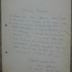 Scrisoare Elena Eftimiu catre Presedintele Uniunii Scriitorilor din RSR// 1967