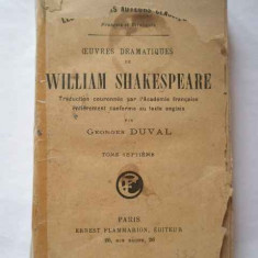Oeuvres Dramatiques De William Shakespeare Vii - Georges Duval ,267309