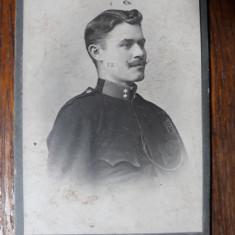 FOTOGRAFIE VECHE - CDV - MILITAR - ATEL. FOTO. SCHULLER BRASOV - INCEPUT DE 1900