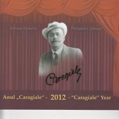 ROMANIA 2012  LP 1928  ANUL CARAGIALE  ALBUM  FILATELIC