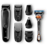Kit de ingrijire multifunctional 8in1 MGK3060, 4 piepteni, 13 lungimi, Gillette ProGlide Fusion, negru