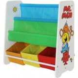 Cumpara ieftin Organizator carti si jucarii cu cadru din lemn copii 3-6 ani Mr. Men