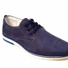 Pantofi barbati casual din piele naturala bufo bleumarin - LUCYANIS SK23BL