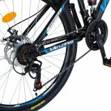 Bicicleta MTB-HT 26 inch Velors CSV2661S negru cu design albastru