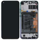 Display LCD cu Touchscreen Huawei P40 Lite E, cu Acumulator Blue, Service Pack