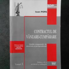 IOAN POPA - CONTRACTUL DE VANZARE CUMPARARE
