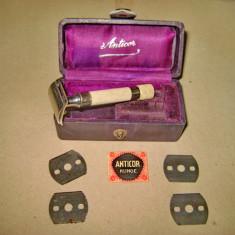 A939-I-Raritate-Aparat mic ras vechi ANTICOR Klinge mond extra cutia originala.