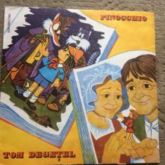 pinocchio tom degetel pinochio disc vinyl lp basme povesti pentru copii exe 1094