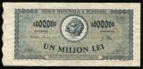Y050 BANCNOTA DE 1000000 LEI 1947 XF