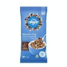 Musli cu Ciocolata Neagra Cup Bio 55gr Davert Cod: 4019339637005