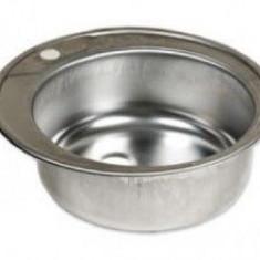 Chiuveta rotunda inox anticalcar pentru blat AC48