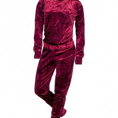 Set bluza si pantaloni de catifea dama, rosu, marimea S