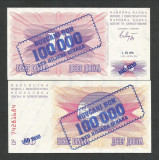 BOSNIA  HERTEGOVINA  100000 100.000  DINARI  1.09.  1993  UNC  [1]  P-34a