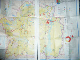 Harta Economica a Judetului Braila 1985 ,2 jumatati  ,dim.= 62x90cm/buc