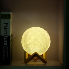 Moon Lamp 3D – Lampa Luna LED Portabila