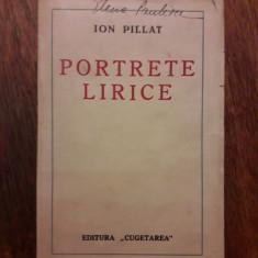 Portrete lirice - Ion Pillat  1924 / R2P1F