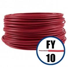 Cablu electric FY 10 – 100 M – H07V-U – rosu