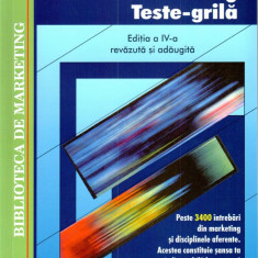 Marketing. Teste-grila | Virgil Balaure
