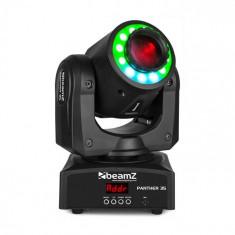 Beamz Panther 35, moving head LED spot, LED alb de 35W, LED SMD 12 RGB, negru