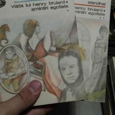 Viata lui Henry Brulard. Amintiri egotiste – Stendhal, 2 volume