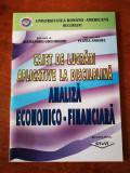 Caiet de lucrari aplicative la disciplina Analiza economico-financiara