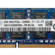 Memorie ram laptop SODIMM SK Hynix 8Gb DDR3 PC3L-12800S la 1600Mhz, 1.35V