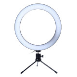 Lampa circulara de masa Ring Light, 36 x LED SMD, 3 trepte lumina, mini trepied inclus