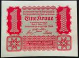 Bancnota ISTORICA 1 COROANA - AUSTRO-UNGARIA (AUSTRIA), anul 1922 *cod 855  UNC