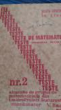 Teste de matematica rezolvate nr.2 pt.admitera in liceu  V.Baciu