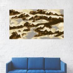 Tablou Canvas, Pictura Abastracta, Maro-Auriu - 40 x 70 cm