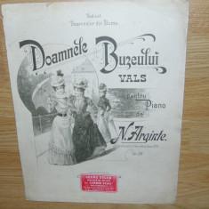 PARTITURA VECHE -  DOAMNELE BUZAULUI VALS PENTRU PIAN