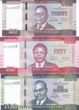 Bancnota Liberia 20, 50 si 100 Dolari 2016 - P33a-35a UNC ( set x3 )