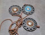 3 Ornamente din metal cu gaurele pentru lucruri frumoase - diametru 5,5 cm #27, Catarame