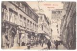 5103 - TIMISOARA, street stores, Romania - old postcard - used - 1910