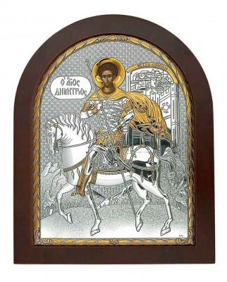 Icoana Sfantul Dumitru Argintata 147X180mm Cod Produs 2735 foto