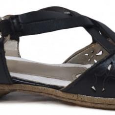 Pantofi dama casual din piele Rieker 53996 negru